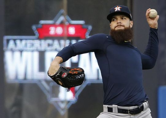 Dallas Keuchel prepares for his first playoff appearance as he gets the start against the Yankees in the Bronx on Tuesday night.