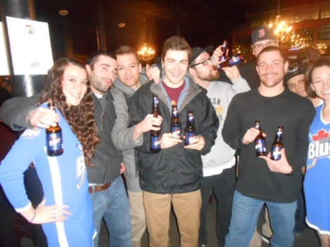 Labatt Bubble Hockey Labatt bottle drinkers pic